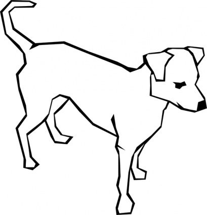 409x425 Dog Simple Drawing Clip Art Vector, Free Vector Graphics