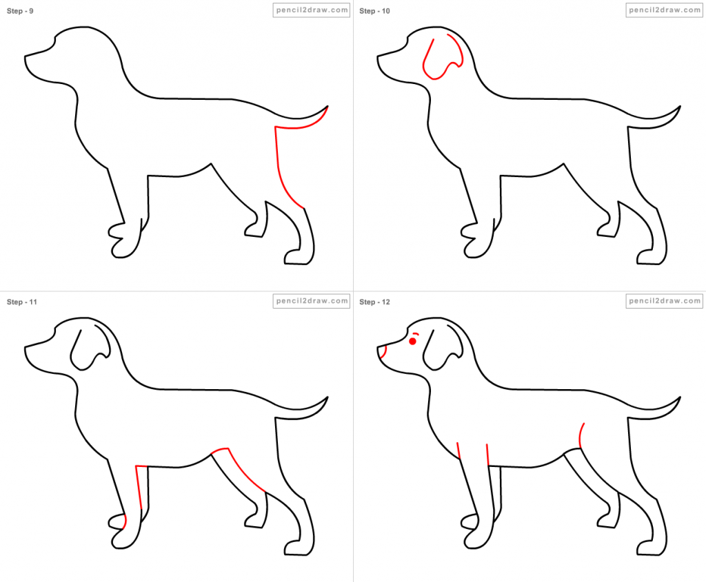 1024x845 How To Draw A Dog Step By Step For Kids Simple Drawing Lesson