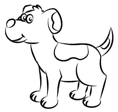 400x379 Pictures Dog Simple Drawing Pictures,