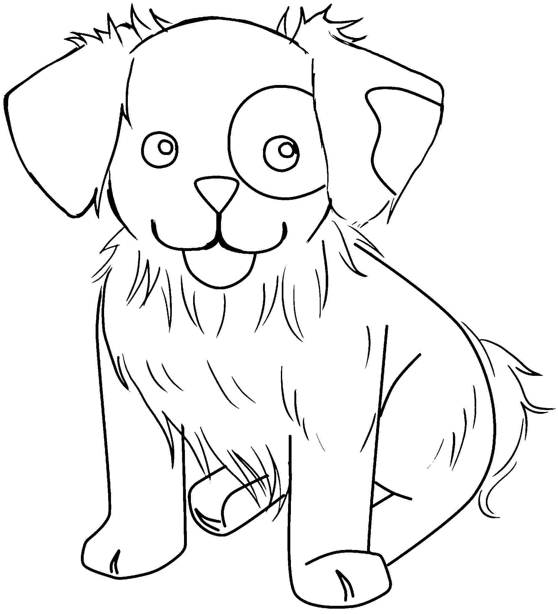 1780x1957 Adult Coloring Pages Animals Dog Simple Free