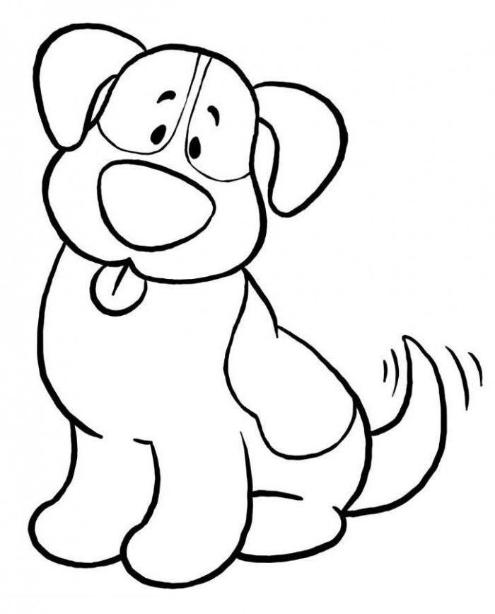 700x867 Dog Clipart Easy To Draw