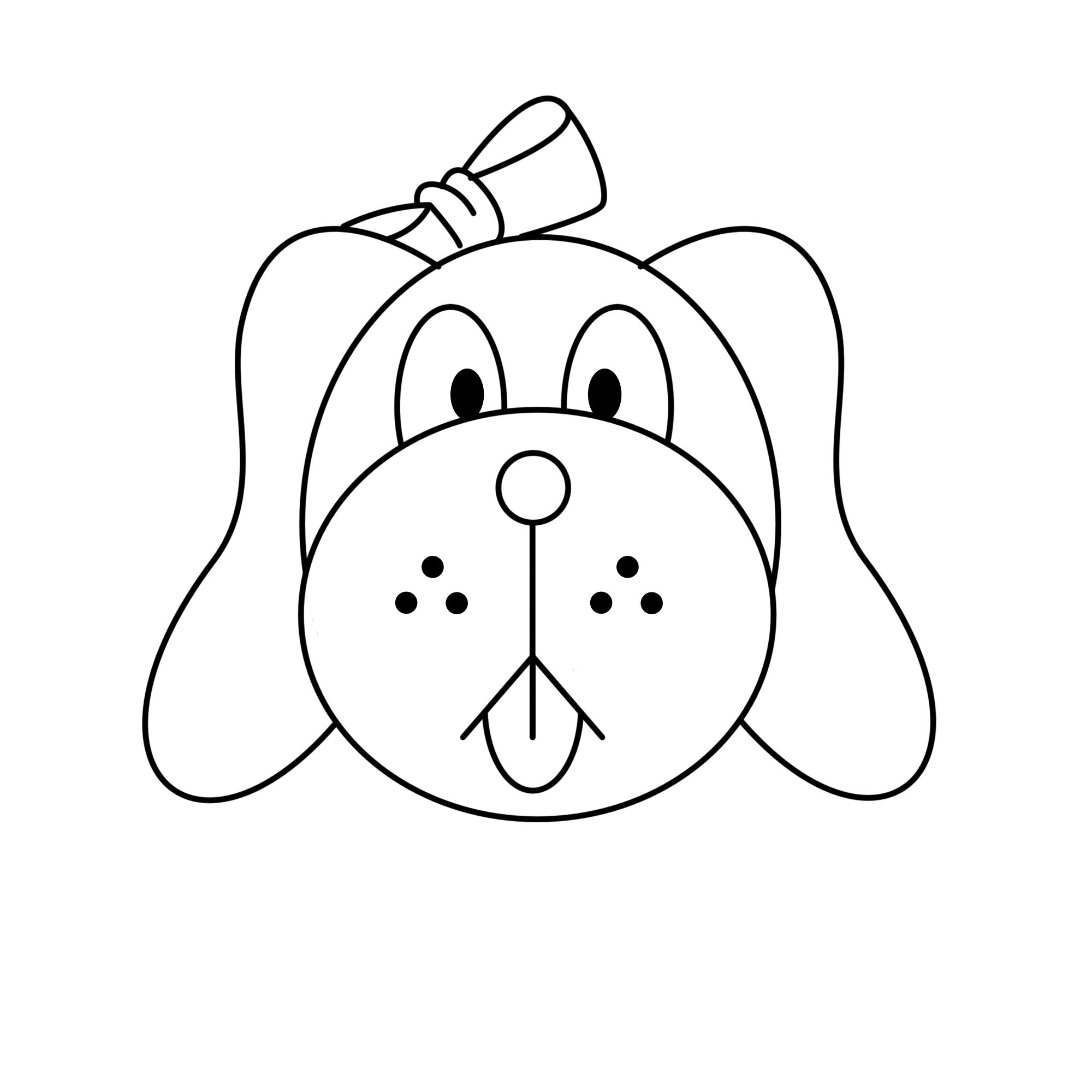 2000x2000 Dog Face Line Drawing