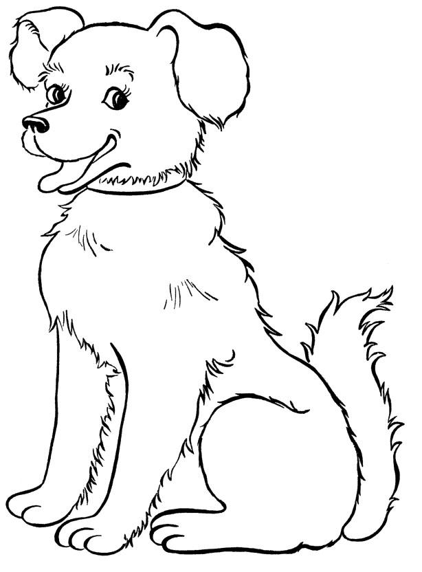 Dog Sitting Down Drawing at GetDrawings | Free download