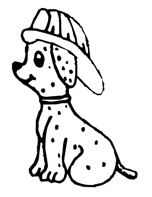 600x776 Cute Fire Dog Sitting Down Coloring Pages Kids Play Color Sparky