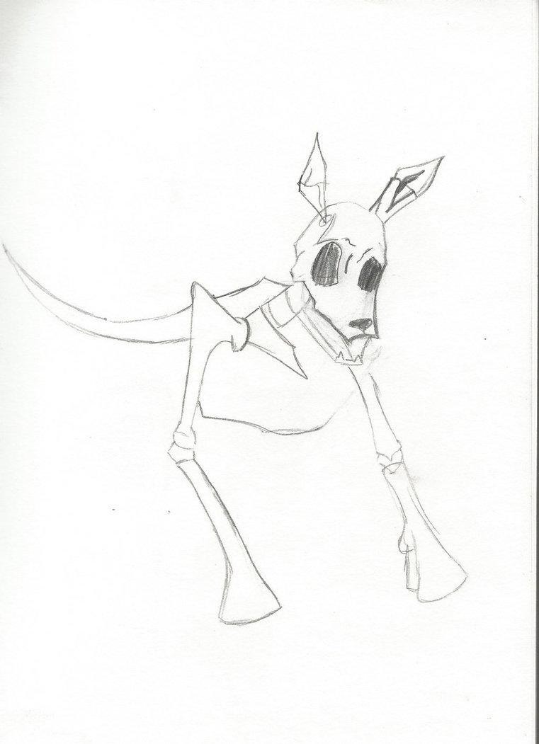 761x1051 Dog Skeleton Drawing (Wip) By Louder1sha