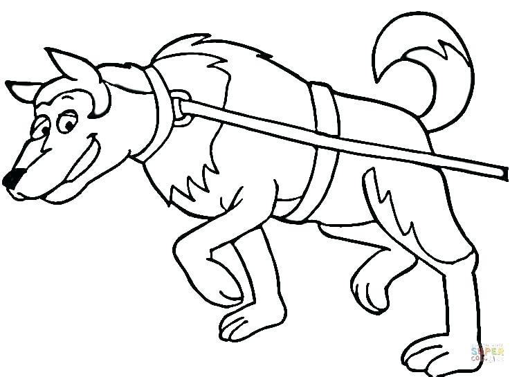 Dog Sled Drawing At Getdrawings Com