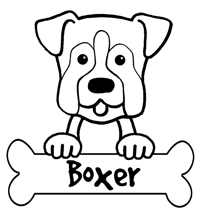 665x705 Boxer Dog Coloring Pages