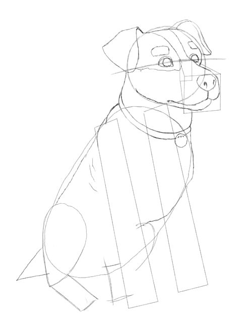 498x621 Dog Drawing Made Easy.