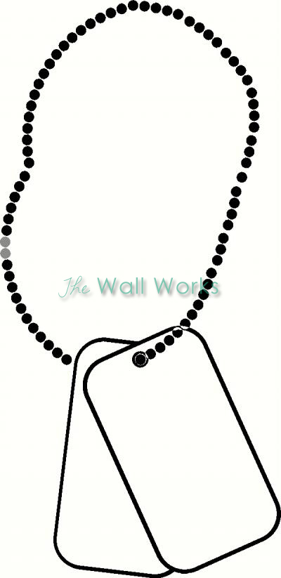 400x823 Dog Tag Chain Wall Sticker, Vinyl Decal The Wall Works