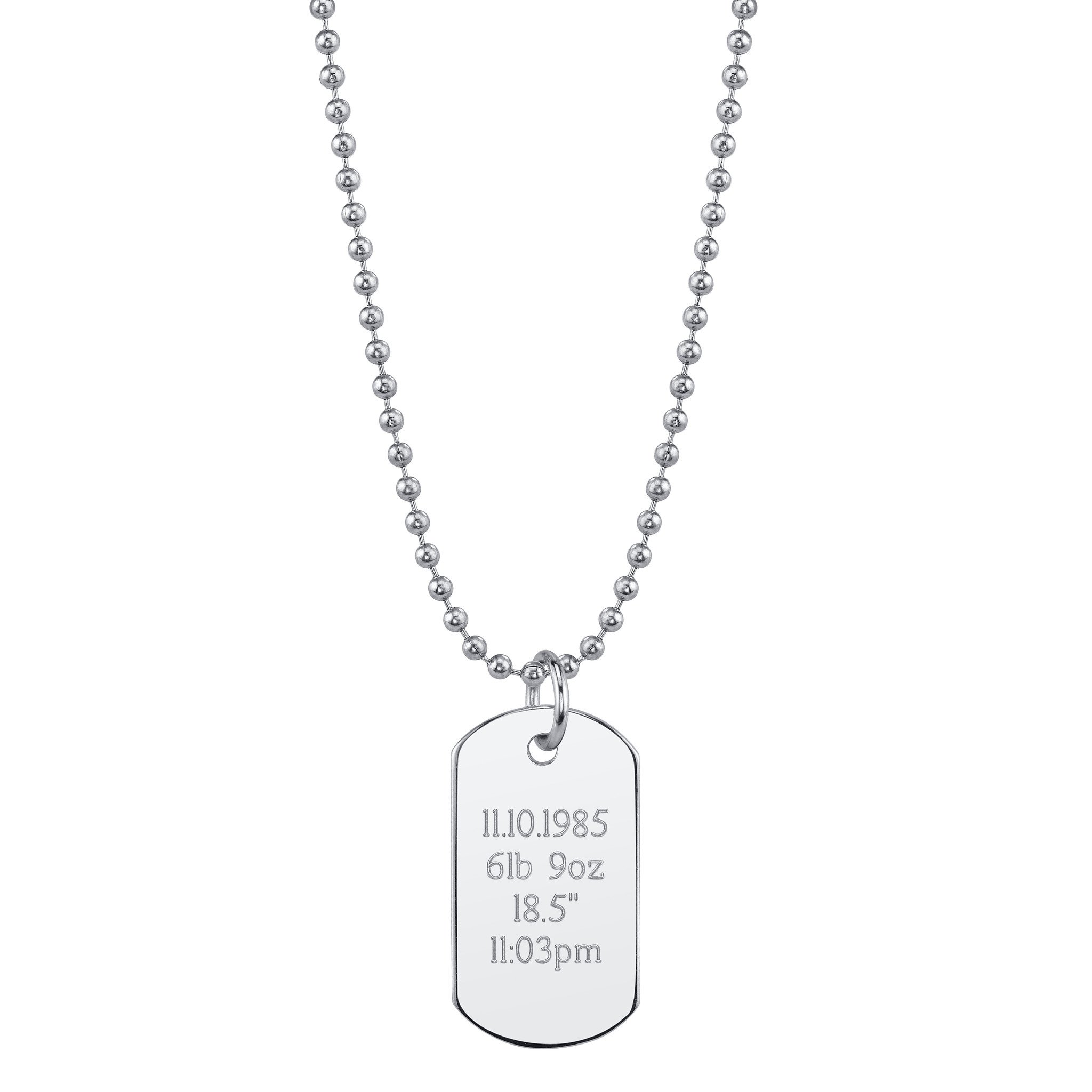 2048x2048 Mini Dog Tag Necklace Pink Amp Blue Co.