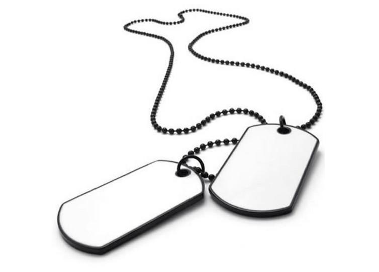 754x543 Army Double Dog Tag White