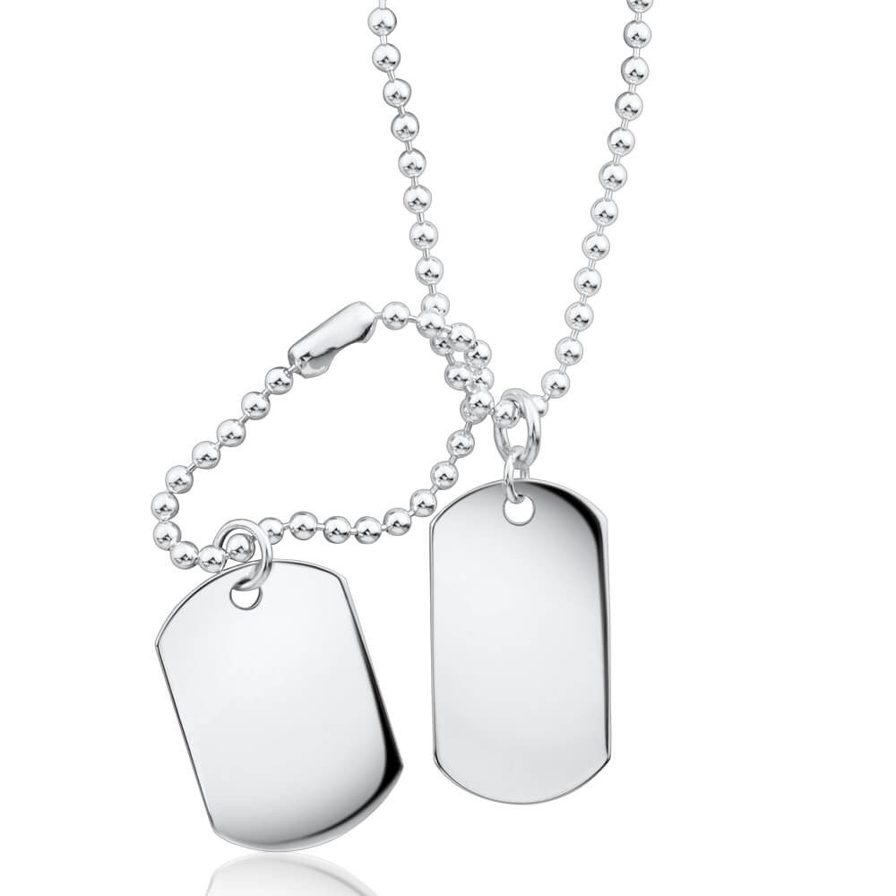 1000x1000 Ball Link Dog Tag Chain Sterling Silver 50cm G60000953 Grahams