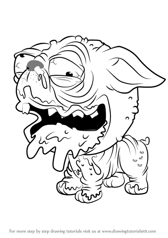 565x800 Learn How To Draw Puggly From The Ugglys Pet Shop (The Ugglys Pet