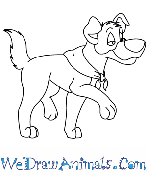 300x350 How To Draw Dodger From Oliver Amp Company