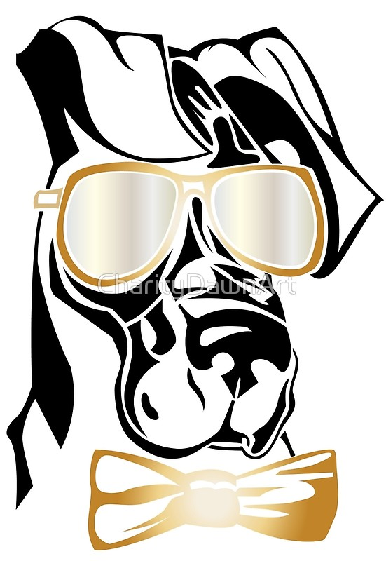 551x800 Cool Great Dane Dog With Sunglasses Metal Prints By