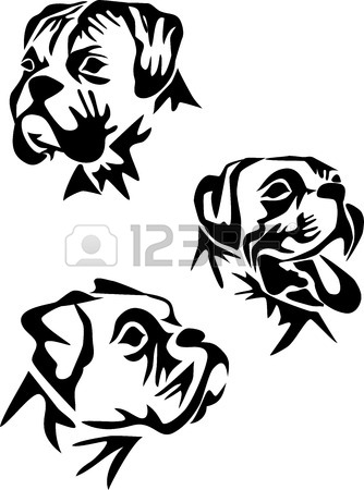 334x450 2,701 Boxer Dog Stock Vector Illustration And Royalty Free Boxer