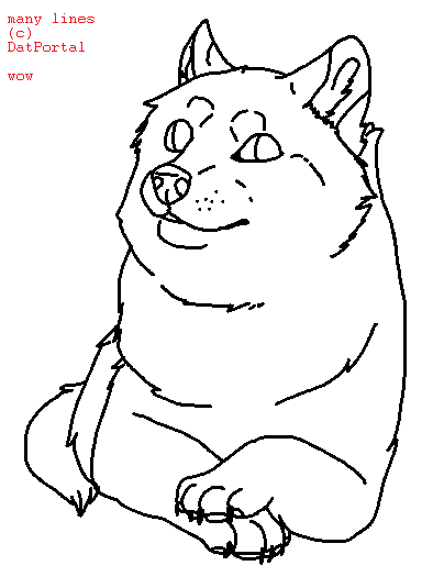Doge Drawing At Getdrawings Com Free For Personal Use Doge Drawing