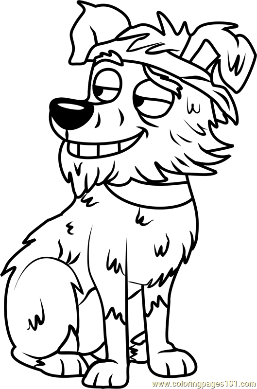 529x800 Pound Puppies Doggy Lama Coloring Page