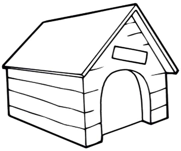 600x500 Dog House Coloring Page Pages Printable