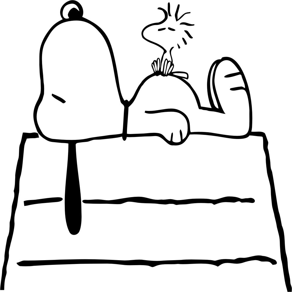 1000x1000 Snoopy Dog House Coloring Page