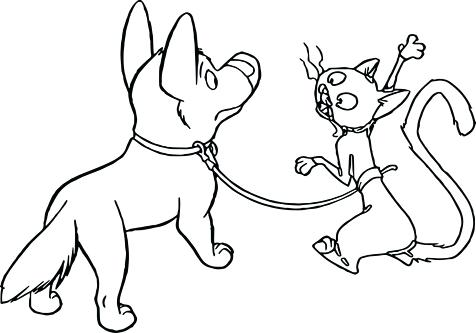 476x333 Dog And Cat Coloring Pages Bolt Penny Dog Cat Coloring Pages Dog