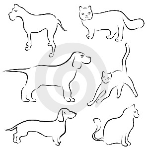 300x300 Line Drawings Of Dogs Collection
