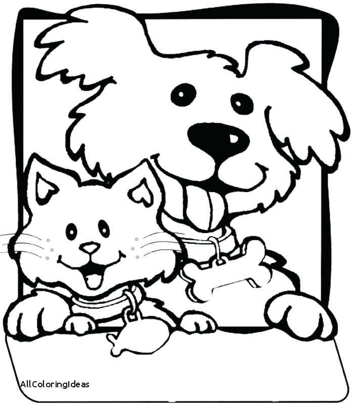 700x811 Coloring Pages Of Dogs And Cats