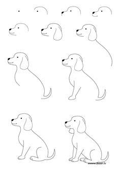 236x333 Dog Drawings Easy