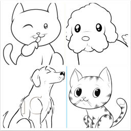 256x256 How To Draw Easy Cats And Dogs By Lvxiang Song