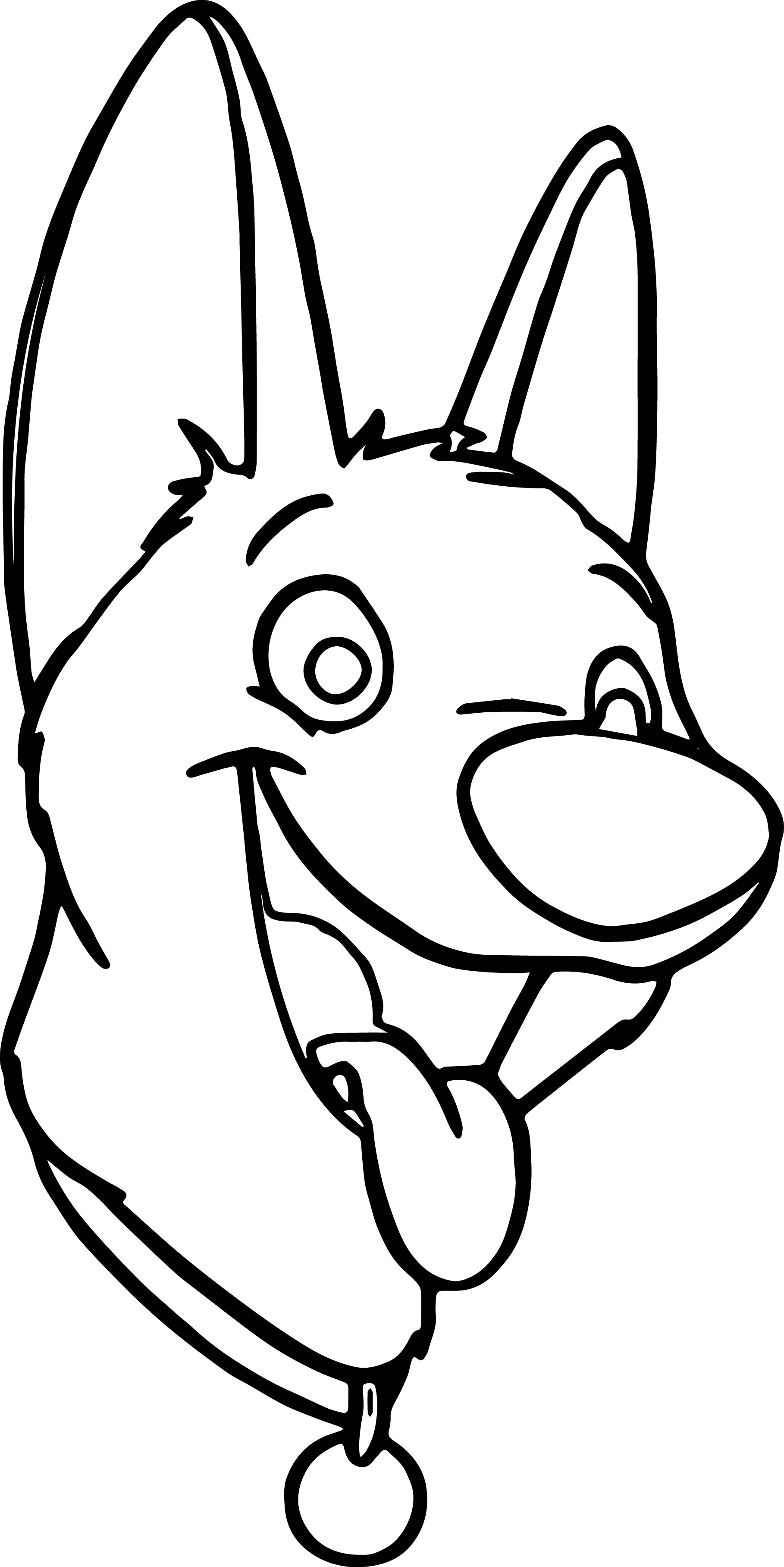 1818x3632 Dog Face Coloring Pages Paginone.biz