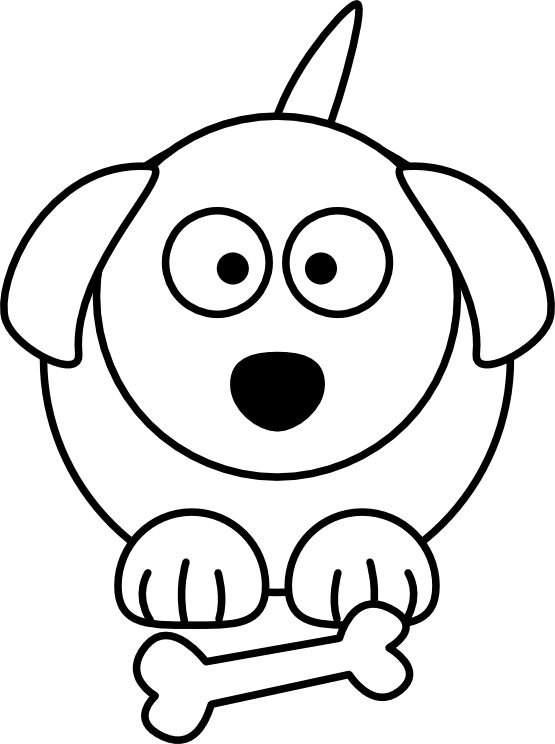 555x744 Line Drawings Of Dogs Collection