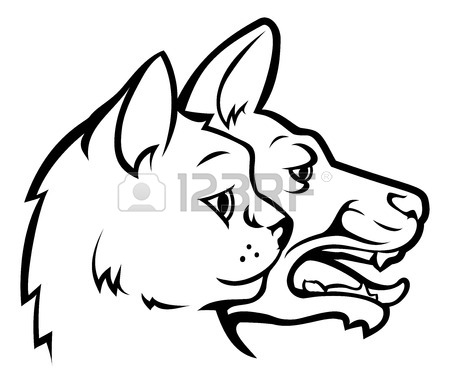 450x384 Pet Dog And Cat Faces Or Heads In Profile Icon Design Element