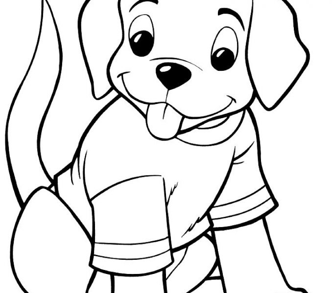 678x600 Kids Coloring Pages Dogs Free Printable Dog Coloring Pages