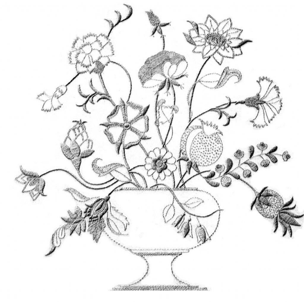1024x1022 Flower Bouquet Drawing 15 Pics Of Vintage Flowers Coloring Pages