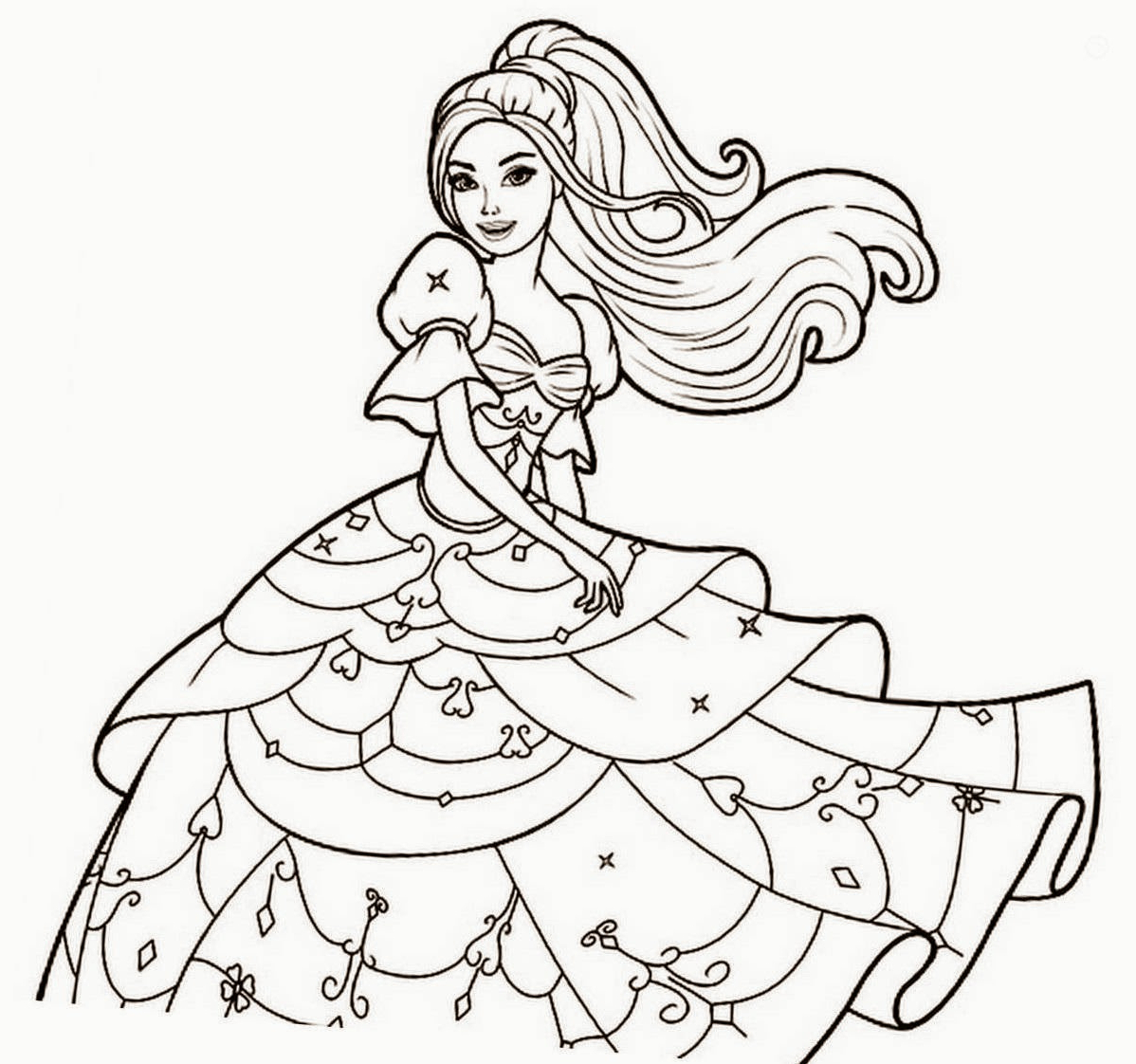 1198x1122 Barbie Doll Sketch How To Draw Barbie, Stepstep, Cartoons