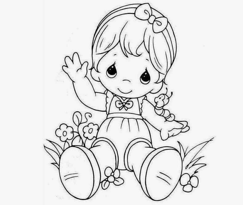 788x665 Colour Drawing Free Wallpaper Doll For Kid Coloring Drawing Free