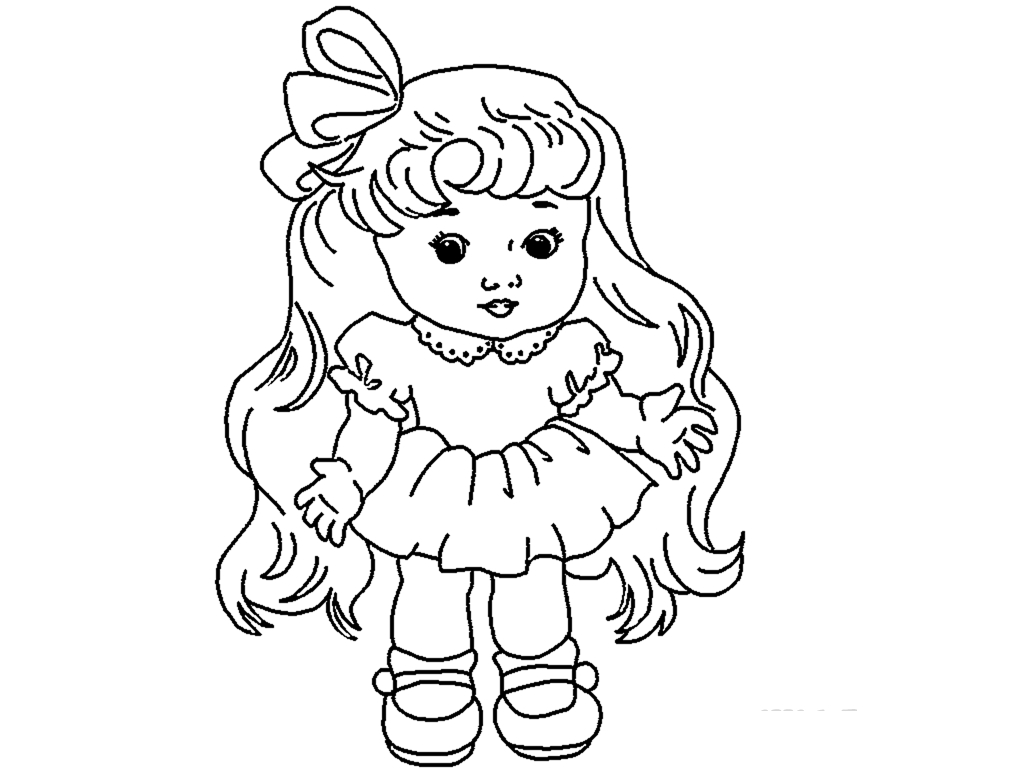 1024x768 Doll Pictures For Drawing Cute Drawing Wallpaper