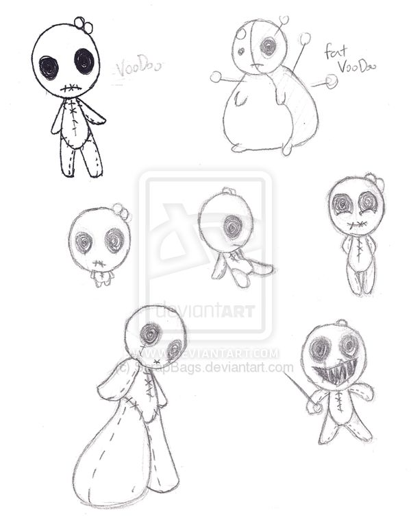 600x774 Drawn Doll Easy