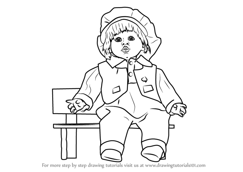 800x567 Learn How To Draw A Girl Doll (Objects) Step By Step Drawing