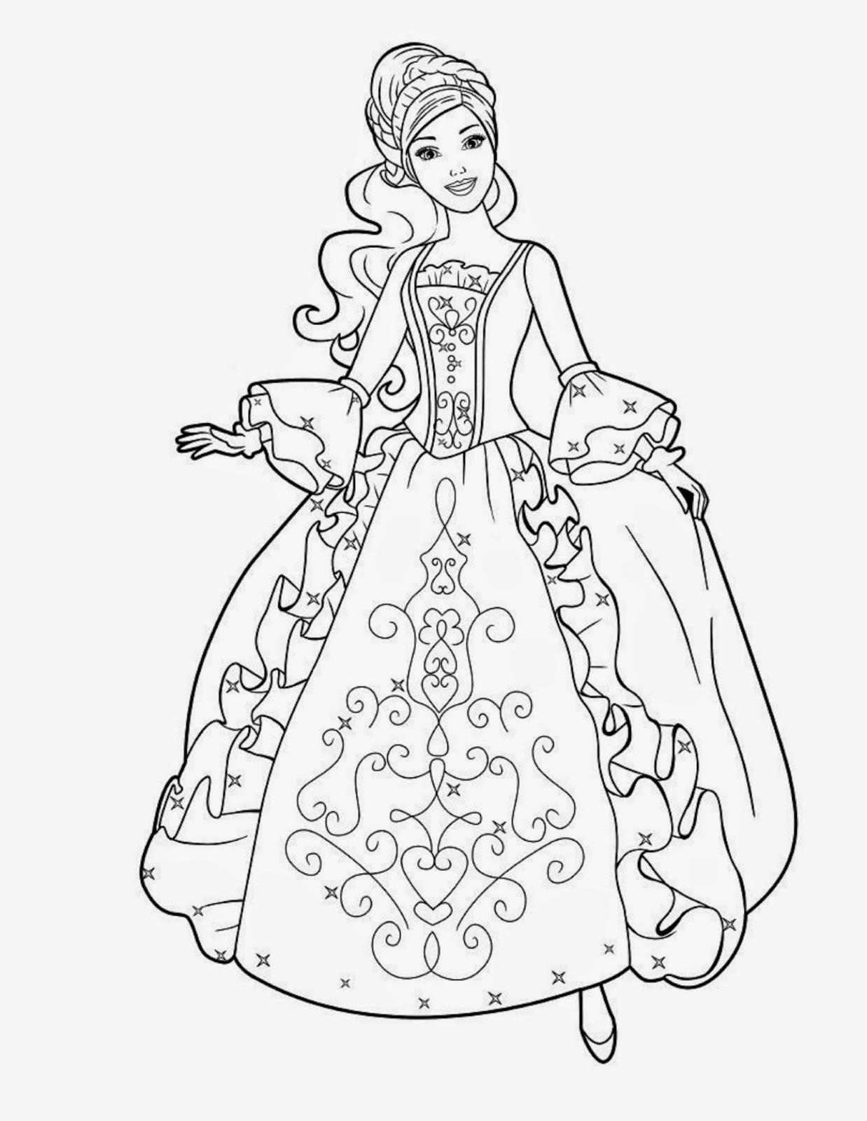 1238x1600 Pencil Drawing Of Barbie Doll Of Disney Princess