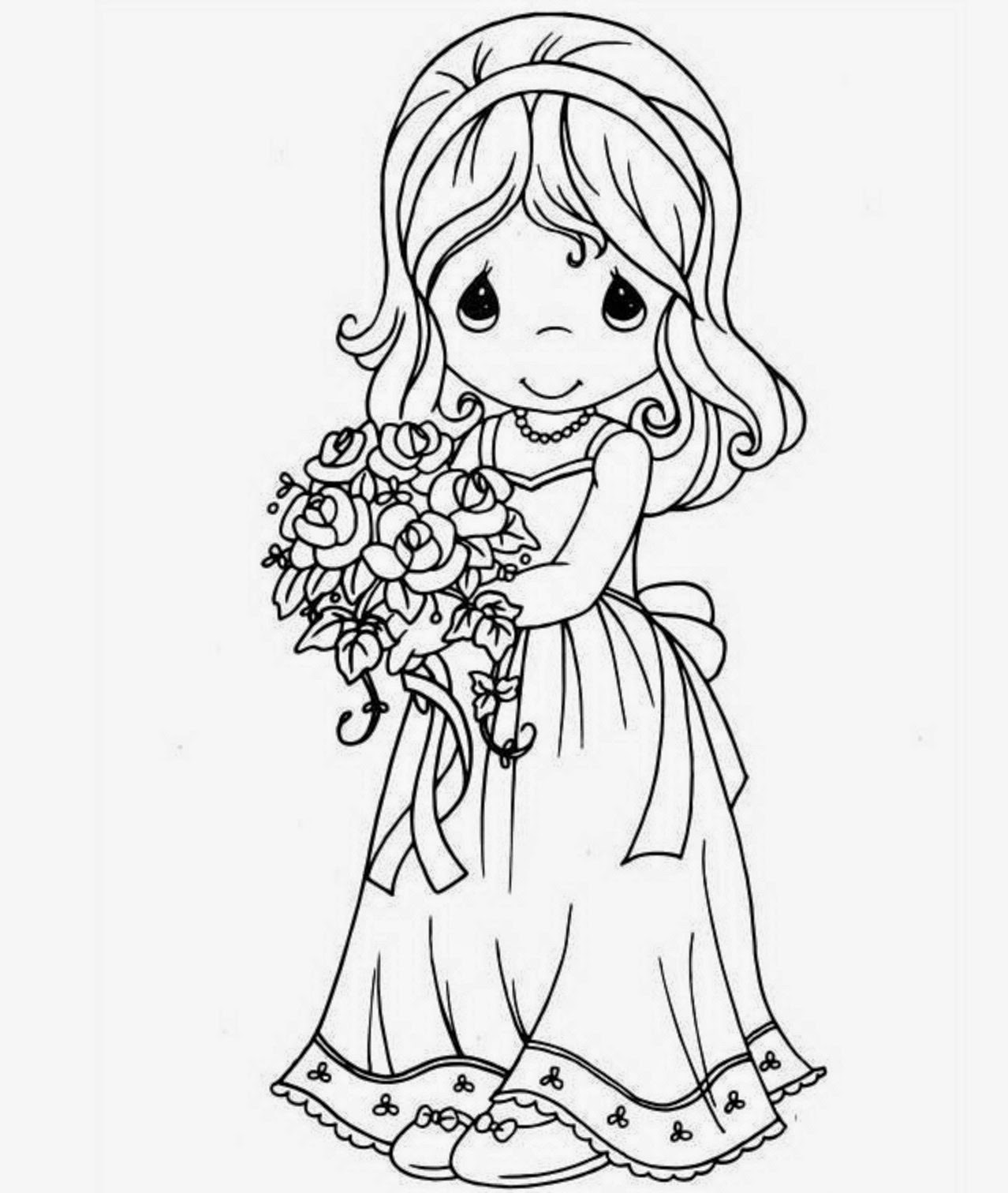 1278x1512 Colours Drawing Wallpaper Beautiful Princess Doll Coloring Page