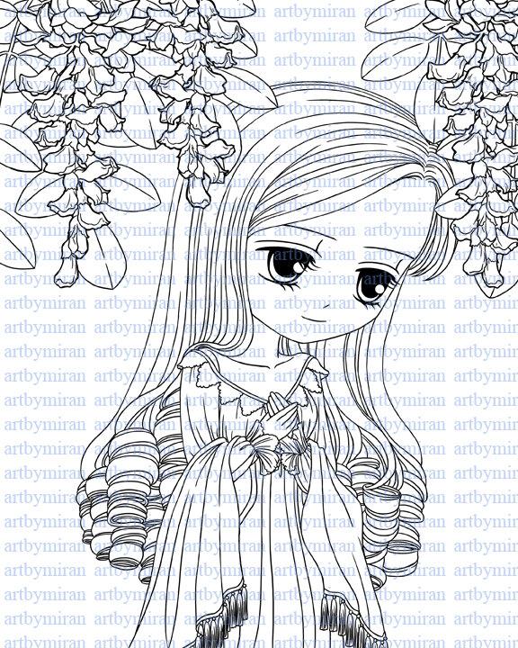 576x720 Digital Stamps Missing You34 Digi Stamp Big Eye Doll