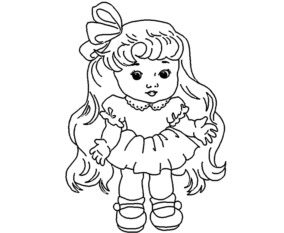 935x768 Colour Drawing Free Wallpaper Doll For Kid Coloring Drawing Free