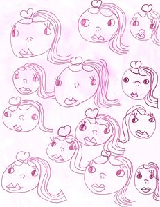 231x300 Doll Face Drawings