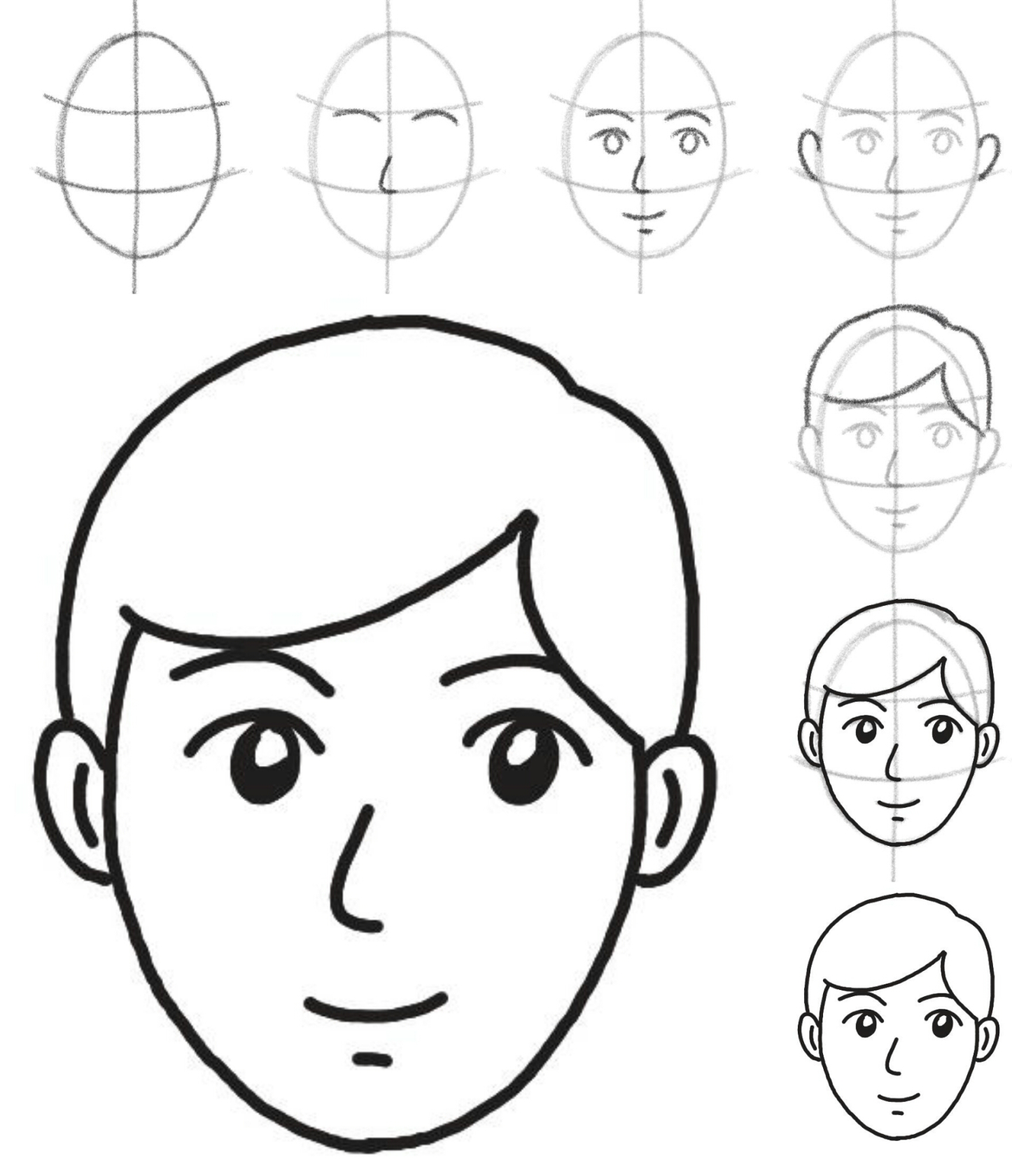 1446x1681 How To Draw A Face Simple Shapes, Face And Sketches