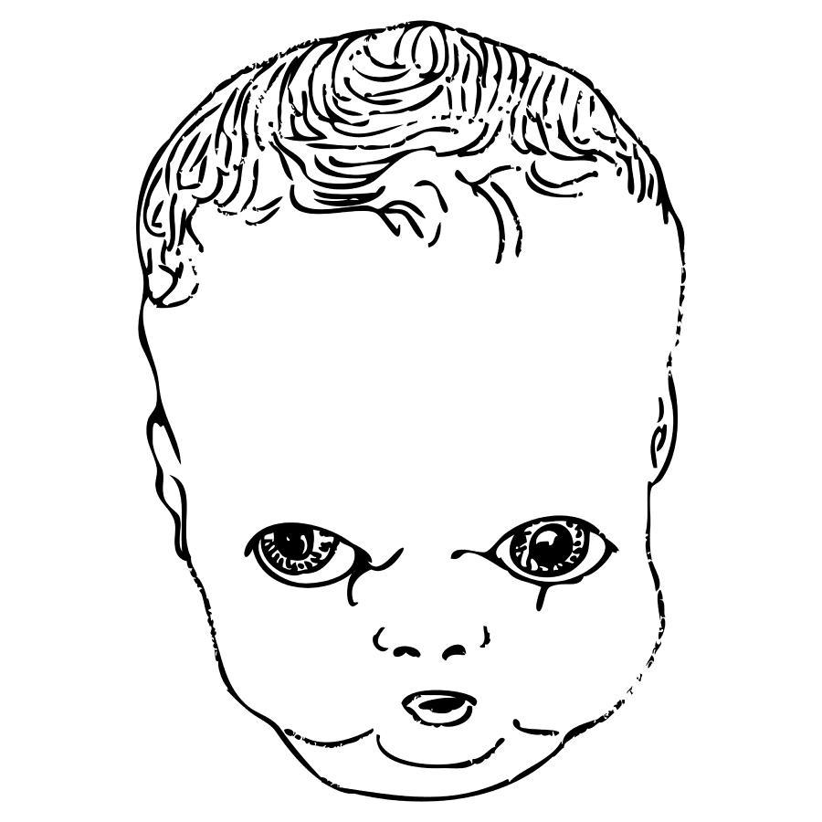 900x900 Strange Doll Baby Drawing By Karl Addison