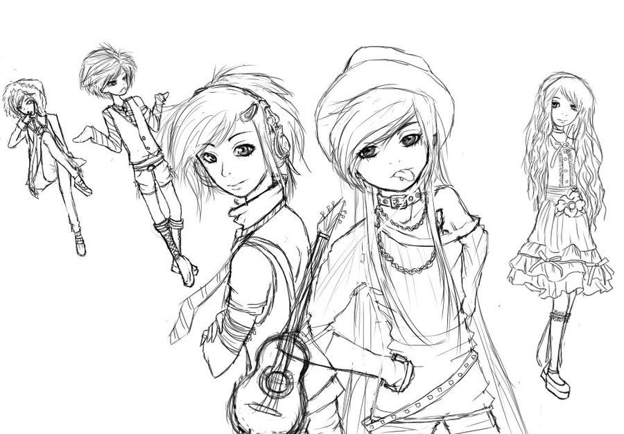 900x626 Y N Y's Dolls! (Fan Art Sketch) By Shink0u Chan