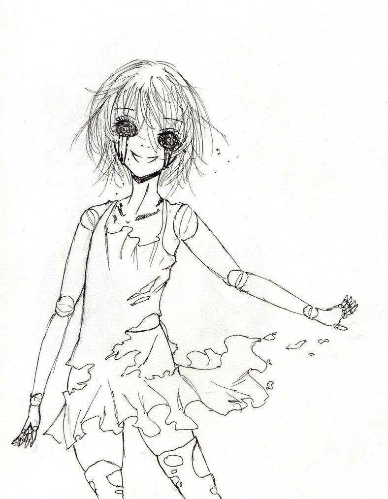 788x1014 Despair Doll Sketch By Kiichigo Kumo