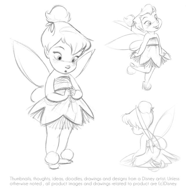 650x650 Disney Tiker Bell Animators Doll Draw Sketch Dolls