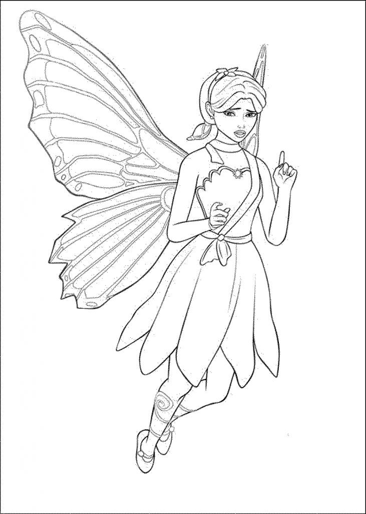 731x1024 Barbie Doll Sketch Drawing